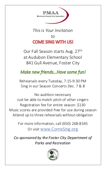 This is your invitation to come sing with us...